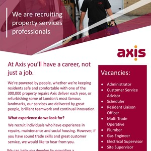 AXIS Europe Job Opportunities